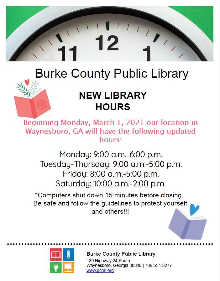 New Hours at Library