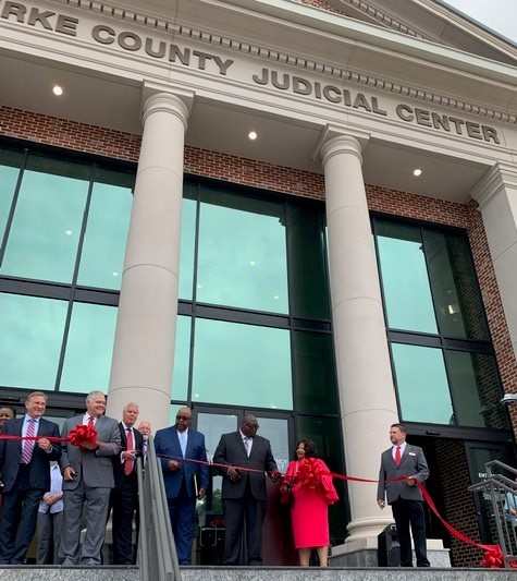 Ribbon Cutting at Burke County Judicial Center